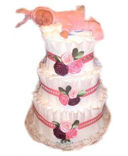 Торт из памперсов Зайка моя