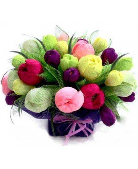 Букет из конфет Тюльпаны с крокусами