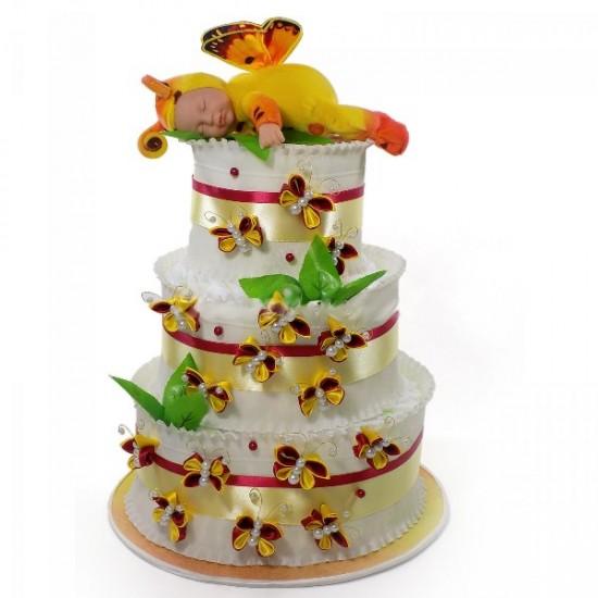 Торт из памперсов Бабочка