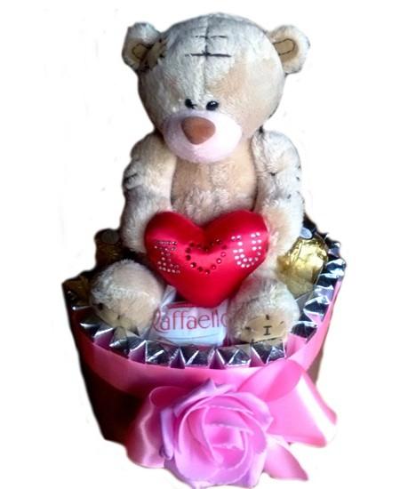 Букет из конфет  Сладкий Мишка