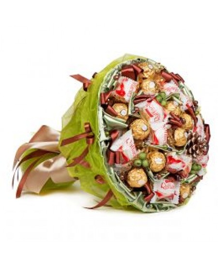 Букет из конфет  Лесной
