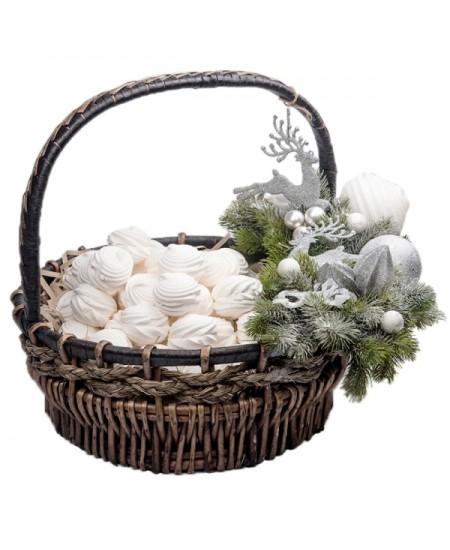 Корзина Зефирная Новогодняя