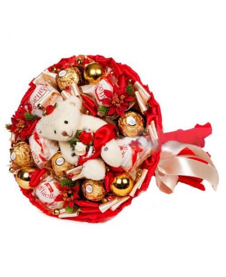 Букет из конфет - Мишутка-малютка