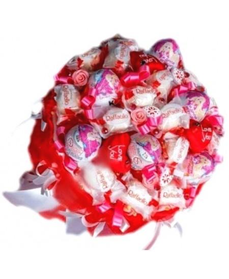 Букет из конфет  Киндер с любовью - Срочная доставка в Москве