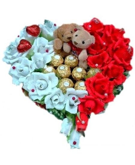 Букет из конфет - Влюбленные