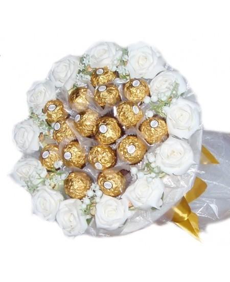 Букет из конфет  Жемчужная вуаль - Срочная доставка в Москве