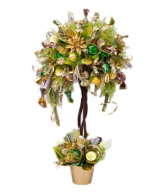 Денежное дерево из конфет своими руками мастер класс