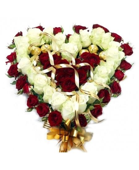 Букет из конфет Ты в моем сердце