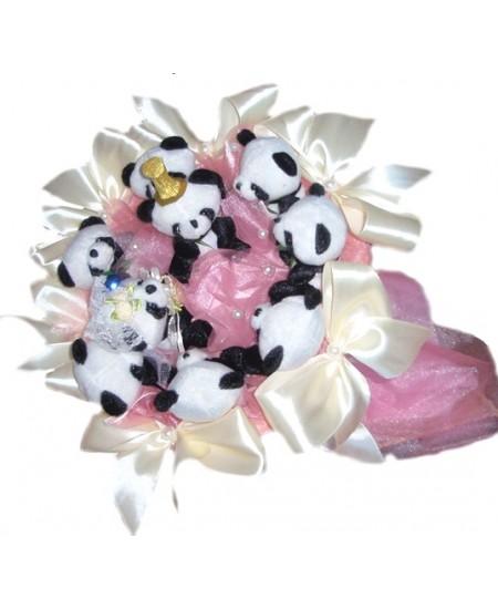 Букет из игрушек Свадьба панды