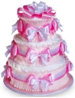 Торт из памперсов Розовый