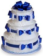 Торт из памперсов Синий
