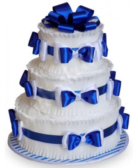 Торт из памперсов Синий  - Супер цена  - Срочная доставка в Москве