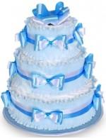 Торт из памперсов Голубой