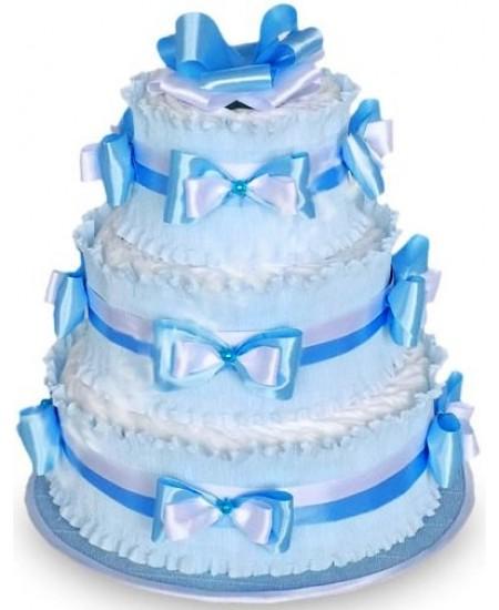Торт из памперсов Голубой  - Супер цена  - Срочная доставка в Москве