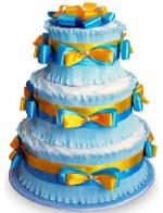 Торт Голубой с золотом