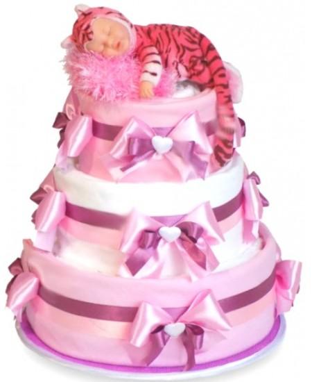 Торт из подгузников Тигренок в пеленках