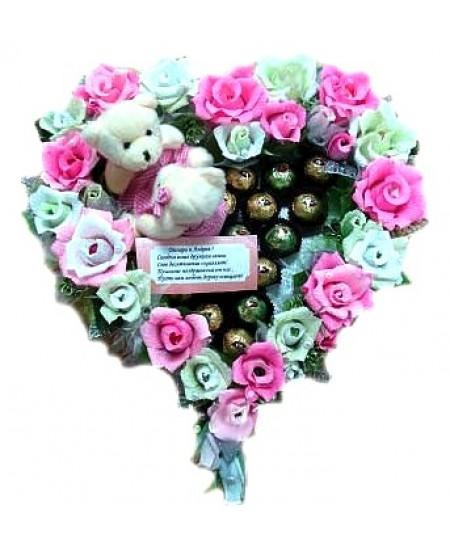Арт-букет Романтика цветов