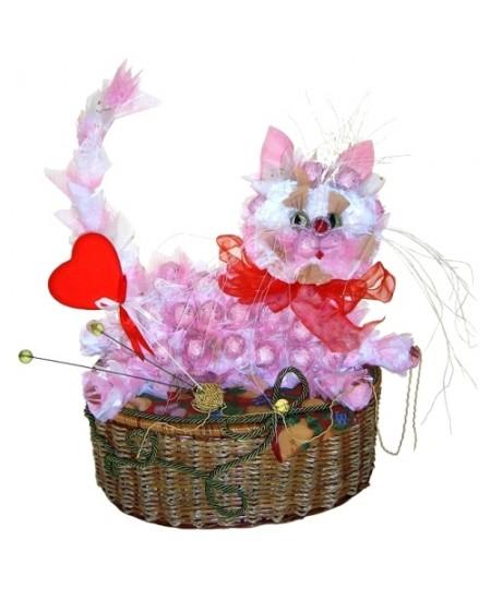 Букет из конфет  Милый котик