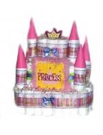 Торт из подгузников Замок для принцессы