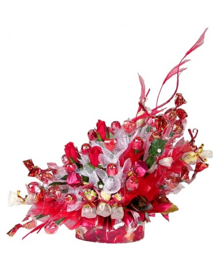 Букет из конфет  Цветущий гранат