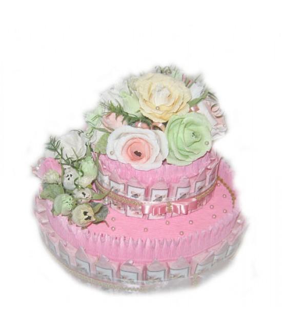 "Торт из конфет ""Розовое облако"""