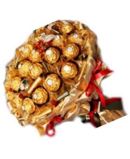 Букет из конфет  Золотой дождь