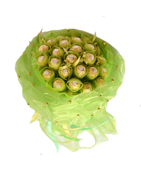 Букет из конфет  Изумруд