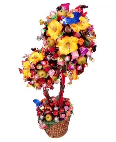 Букет из конфет  Тропическое дерево