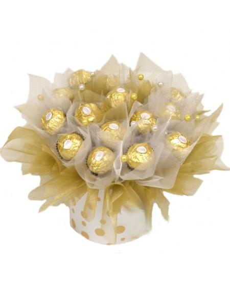 Букет из конфет Белое золото