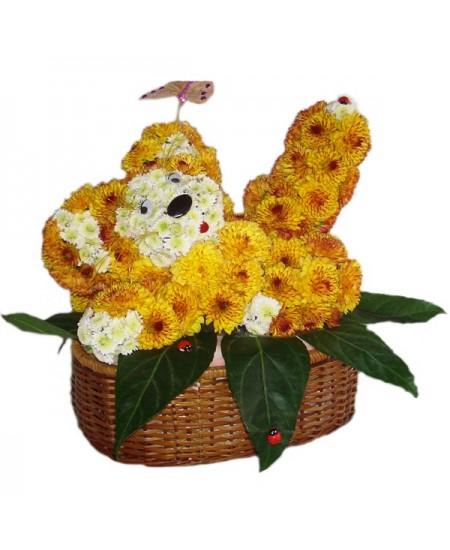 Букет из цветов  Тигренок