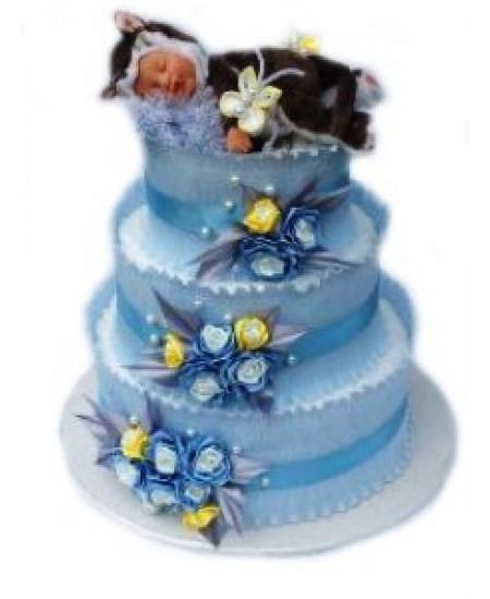 Торт из памперсов Котеночек