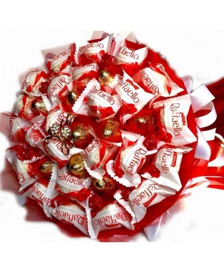 Букет из конфет -  Кружева с золотом
