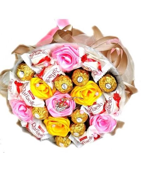 букет из конфет Сатин