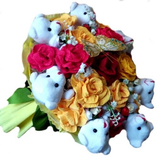 Мишки в розах