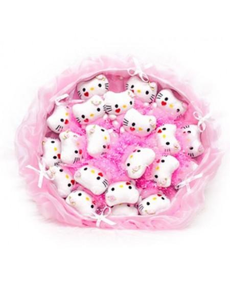 Букет из игрушек Розовое облако