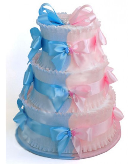 Торт из памперсов Для двойняшек