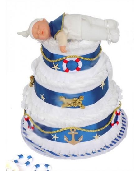 Торт из памперсов Морячок