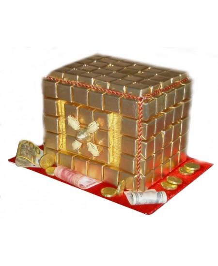 Арт-букет Сейф конфетный
