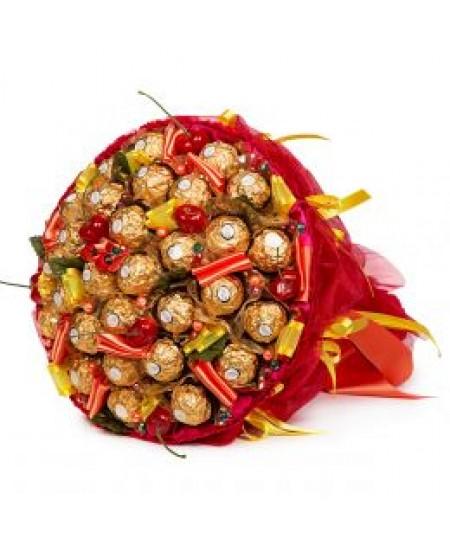 Букет из конфет  Вишня в шоколаде