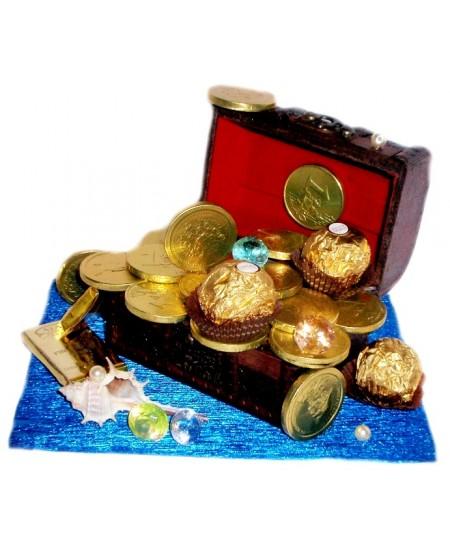 Букет из конфет Морской сундук