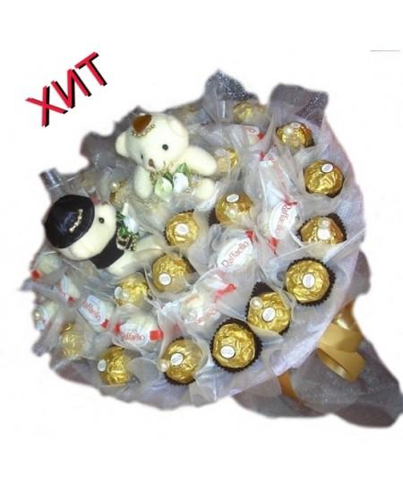 Букет из конфет  Вкус любви - Срочная доставка в Москве