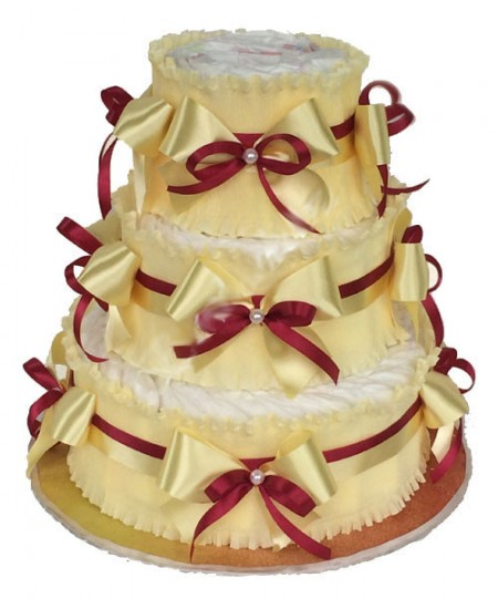 Торт из памперсов Кремовый- Срочная доставка в Москве