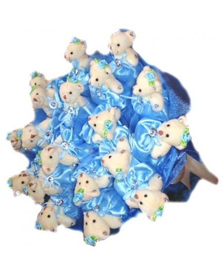 Букет из игрушек Голубое облако