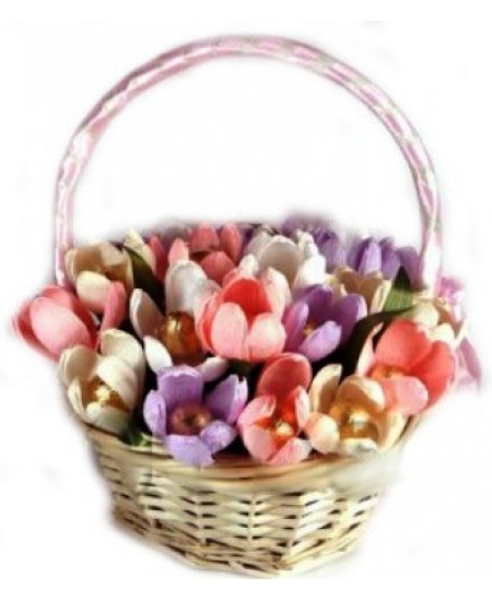 Букет из конфет - Крокусы