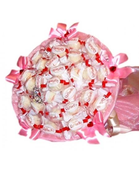 """Букет из конфет - """"Розовый лепесток"""""""