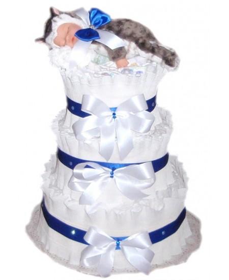 Торт из памперсов Котик