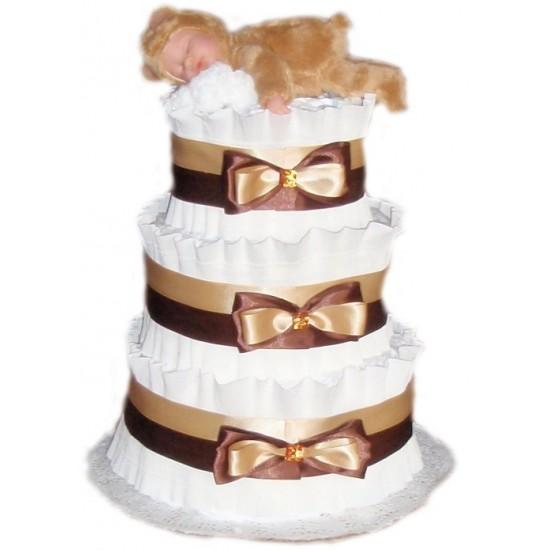 Торт из памперсов Спящий Мишка