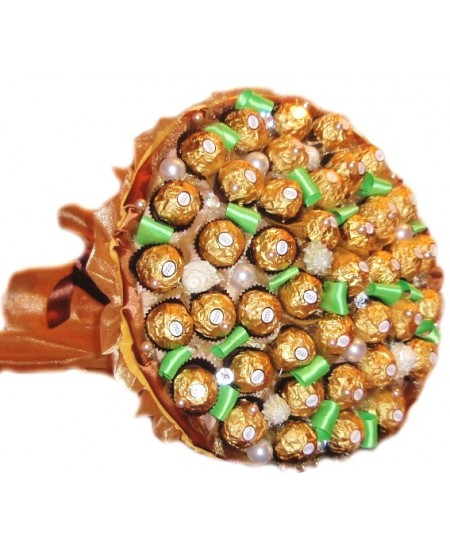 Букет из конфет Тигровый глаз - Срочная доставка в Москве