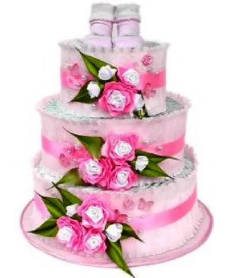 Торт из памперсов - Щербет  любимый подарок новорожденному.