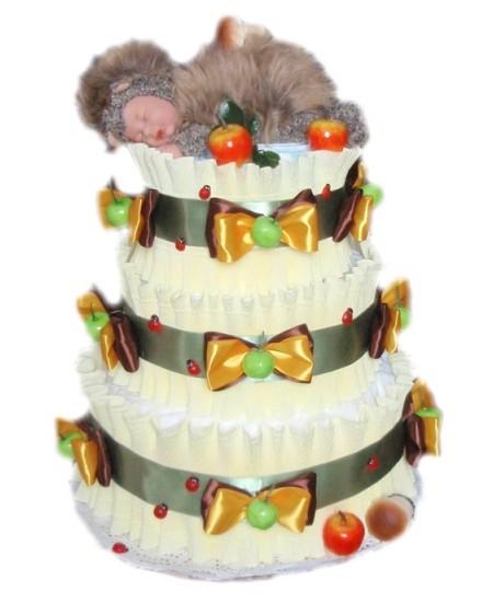 Торт из памперсов Ёжик